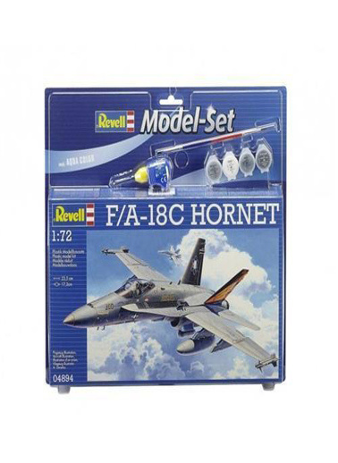 Revell Revell Maket 1:72 Model Set FA-18C Hornet Renkli
